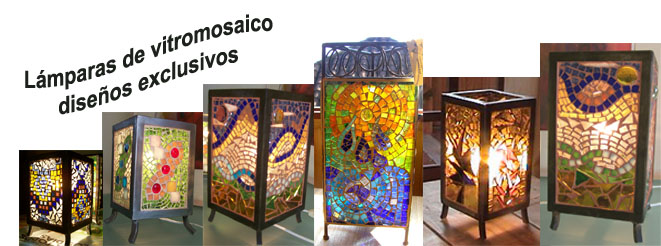 Lámparas de Vitromosaico - fierro
