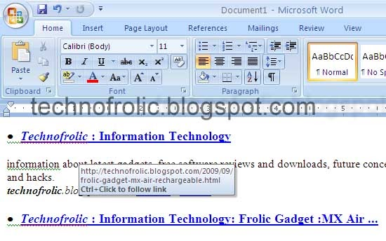 how to delete all hyperlinks word