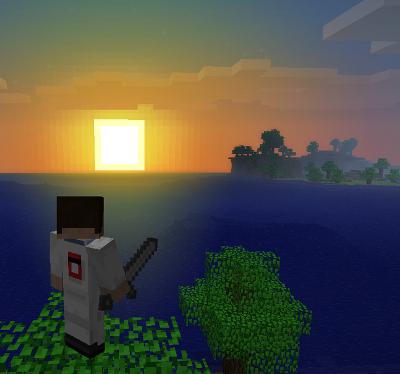 Minecraft 1.0.0 Minecraft_sunset_by_Locou