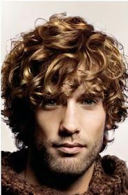 long hair men curly