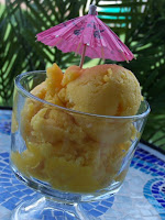 Fresh Mango Sorbet with Pineapple