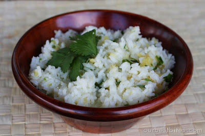 Lime-Cilantro Rice with Pineapple - Our Best Bites