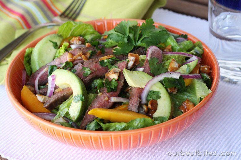 Steak and Mango Salad - Our Best Bites