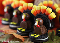 Oreo Turkeys and Cookie Pilgrim Hats