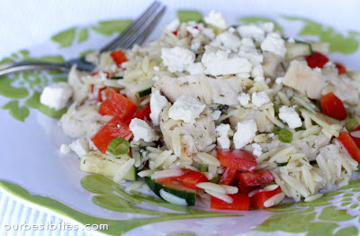Lemon-Orzo Salad with Veggies and Chicken - Our Best Bites