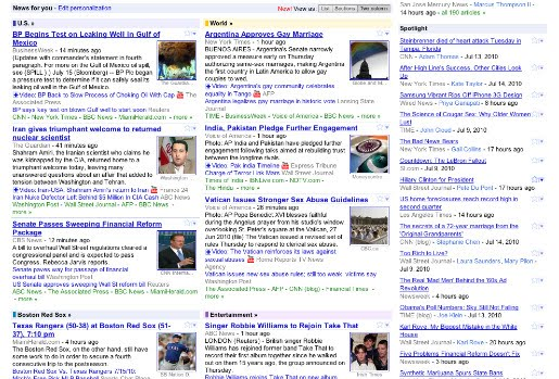 Google+News+two+column+view Google News changes reflect your feedback | Tech NEWS