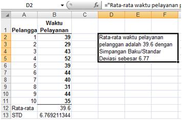 Cara Menuliskan Kalimat Dengan Rumus Di Excel