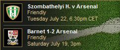 Next match / Last match