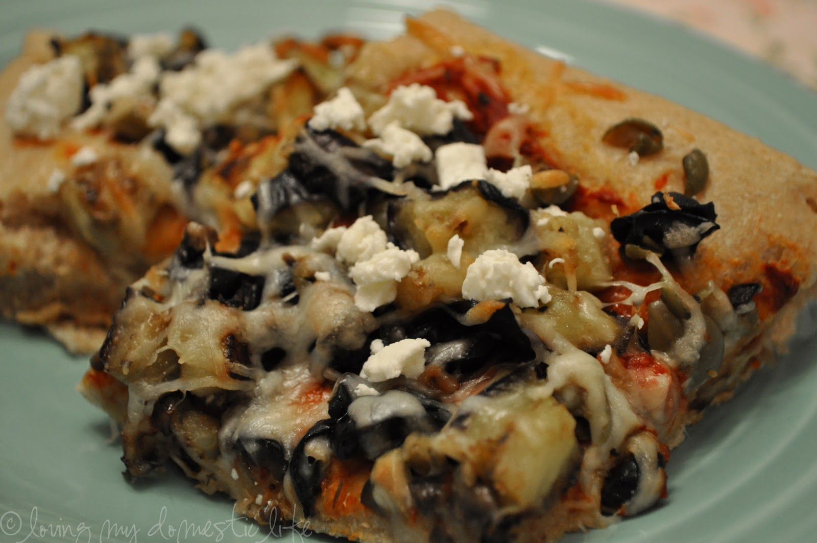 Loving My Domestic Life: Grilled Eggplant Pizza