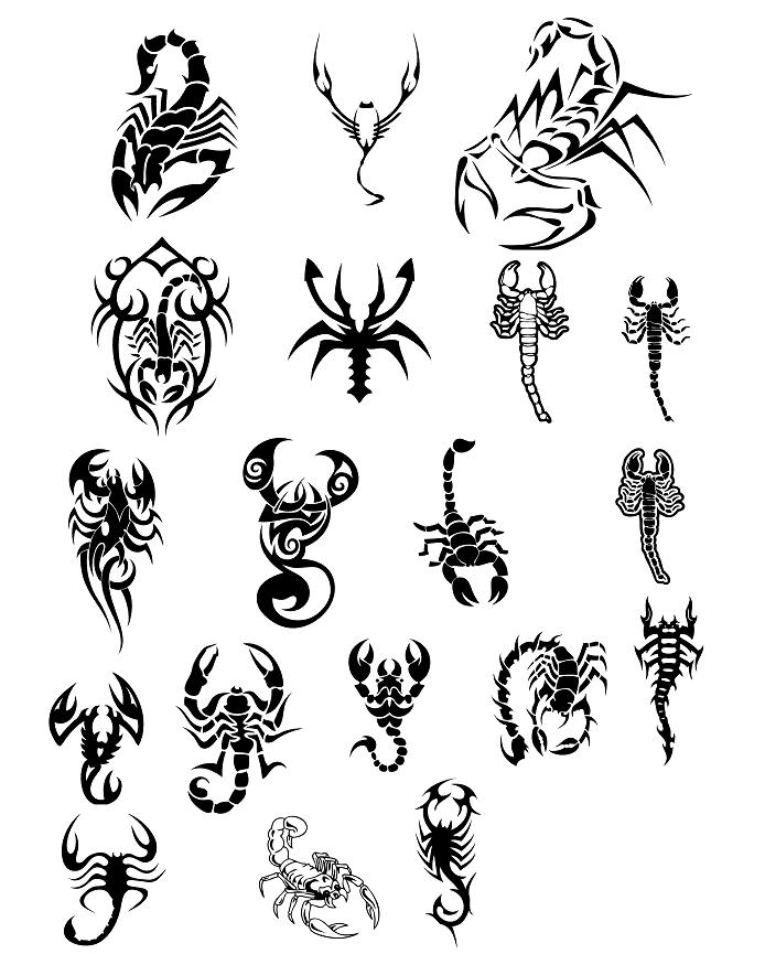 Labels: Scorpion Tattoo Design