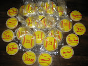 Two dozen softball cookies and 14 of them individually wrapped for the .