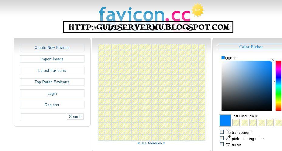 Interfaz del sitio favicon