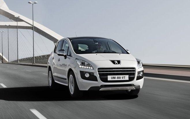 Peugeot 3008 White. 2012 Peugeot 3008 Hybrid4