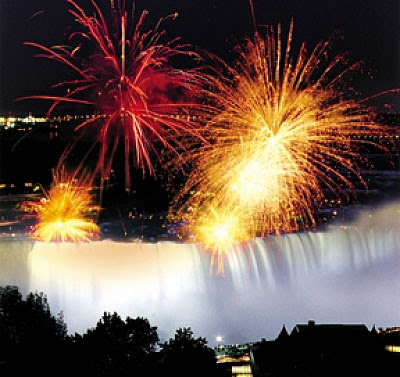 New Year's Eve, Niagara Falls, Ontario and New York