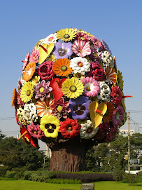 Flower arrangement sculpture