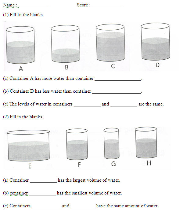 Volume of liquid