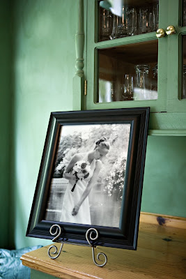 framed bridal portrait