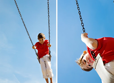 boy portrait on swing