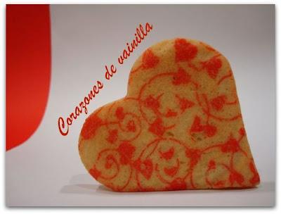 Biscuits, macarons, muffins et cupcakes de Saint Valentin Corazones+de+vainilla