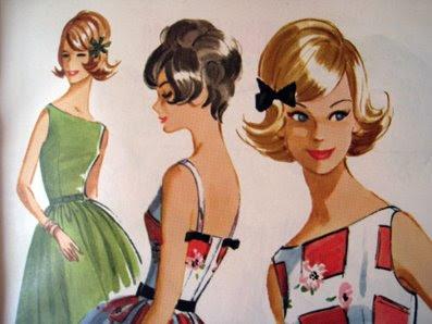 the red thread Vintage Fashion Illustration