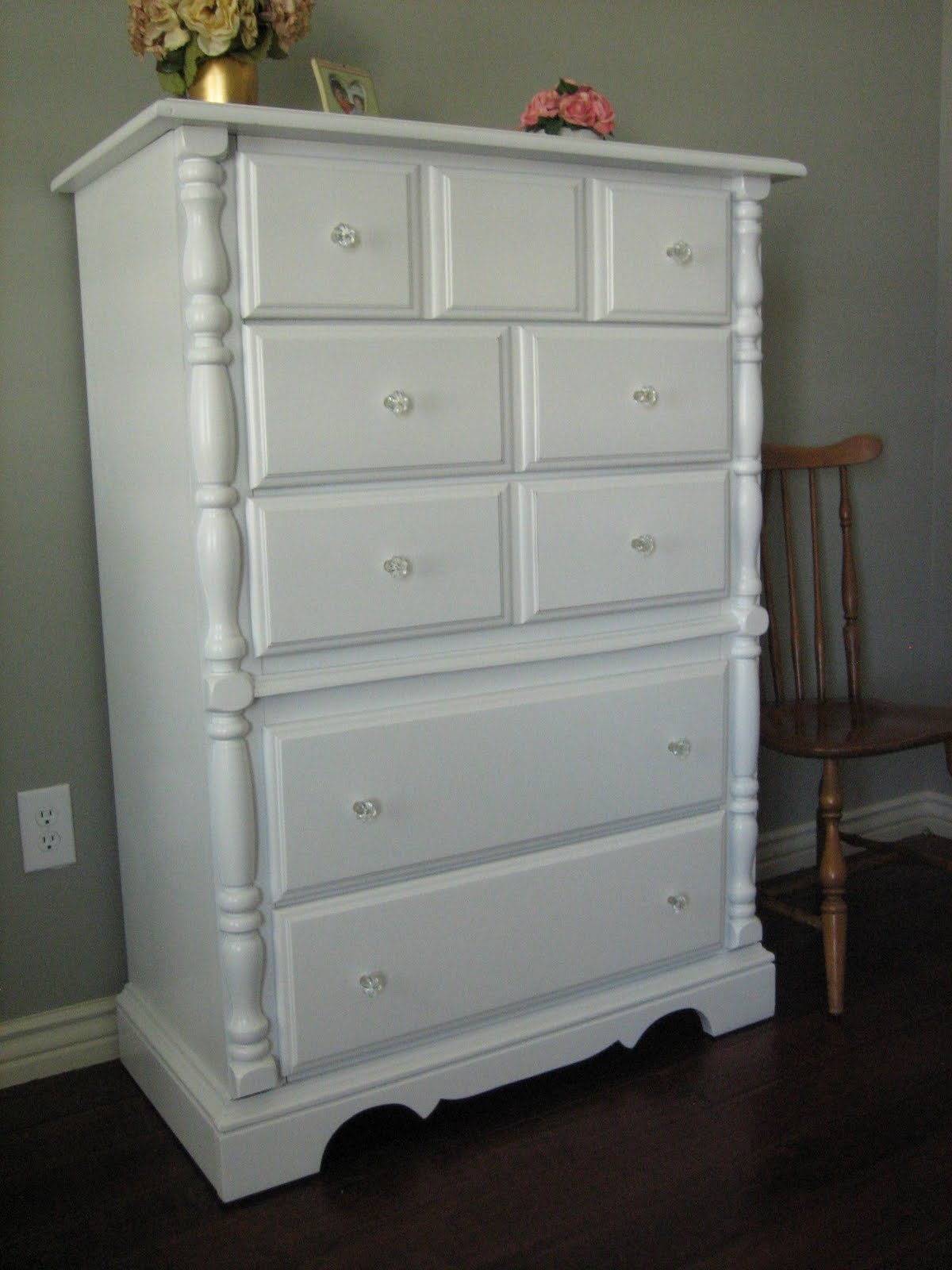 European Paint Finishes Shabby White Dressers