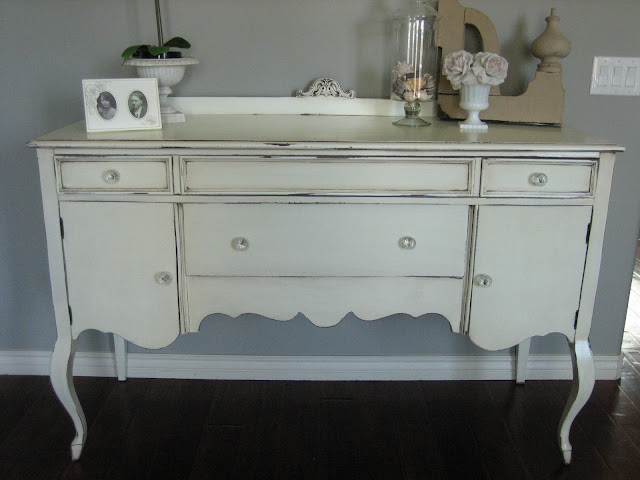 european paint finishes shabby chic antique sideboard. Black Bedroom Furniture Sets. Home Design Ideas