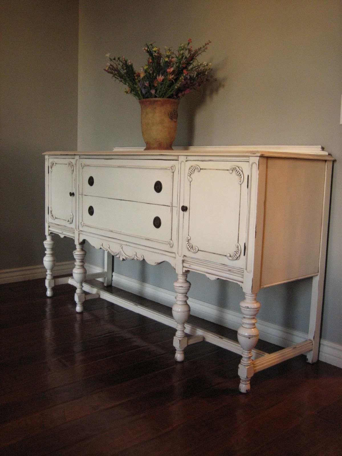 European paint finishes another pretty antique sideboard for Painted buffet sideboard