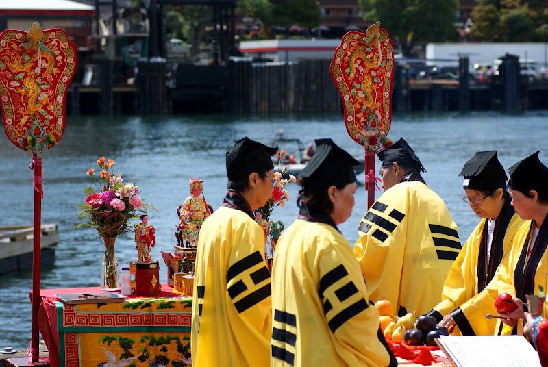 Ching Chung Taoist Church, eye-dotting ceremony, Dragon boat festival, Ship Point Pier, Victoria, Canada