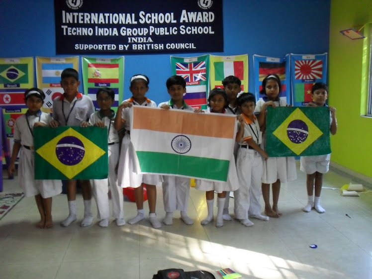 Project NATIONAL FLAGS. Brazil - India