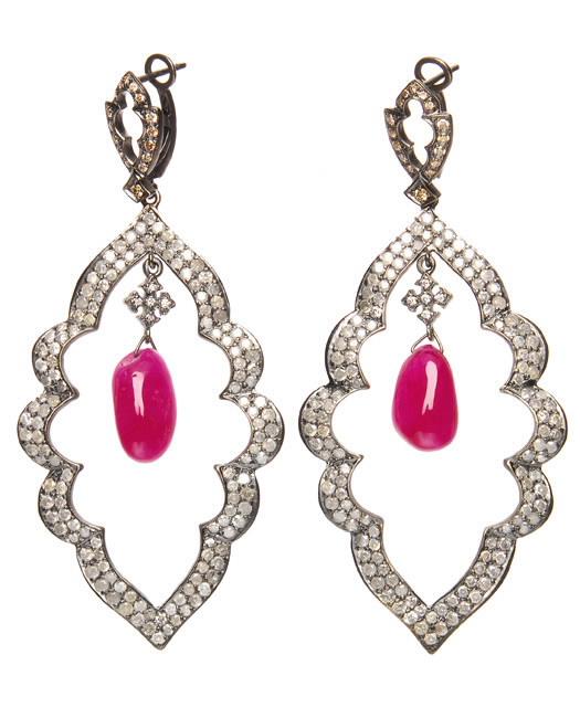 Modern Style Fine Oval Shaped Stud Earrings Inspired By