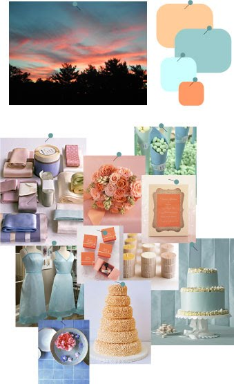Chamomile and Peppermint Blog - Sunset Colours Wedding Inspiration