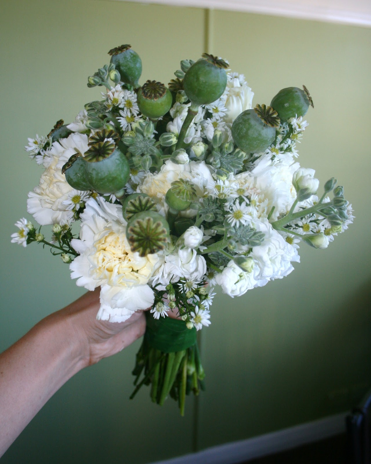 chamomile peppermint make your own posy simple wedding