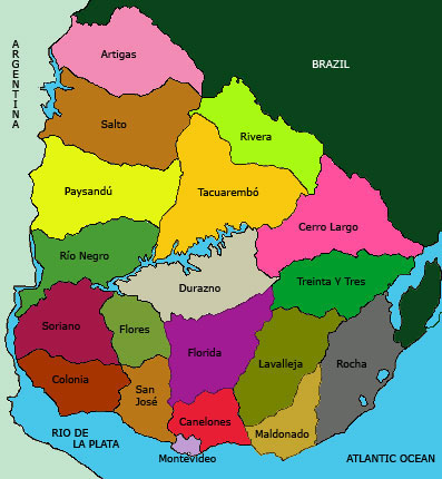 Map of Uruguay