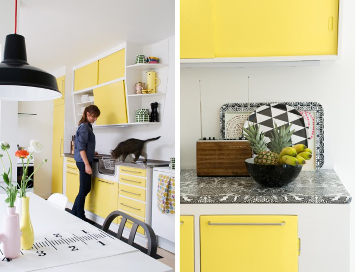 Black White Yellow The Perfect And Kitchen