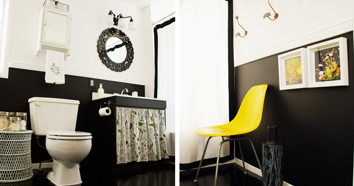 BLACK WHITE YELLOW Black White And Yellow Bathroom