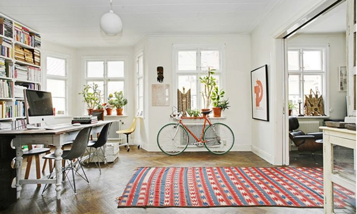 BLACK. WHITE. YELLOW.}: A Swedish Home for Sale