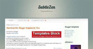 SubtleZen Blogger Template
