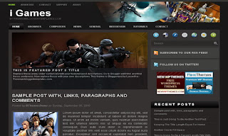 i Games free Blogger Template