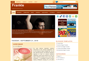 Frankle Free Blogger Template