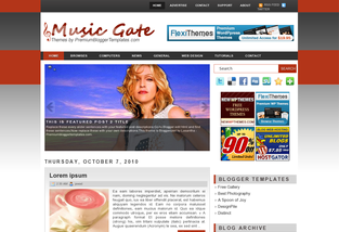 Music Gate Blogger Templates Free