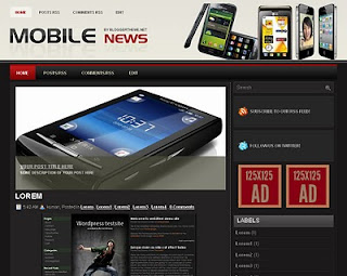 Free Blogspot templates Mobile News
