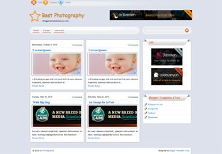 Blogger Templates Best Photography