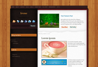 Free Blogger Templates Irene