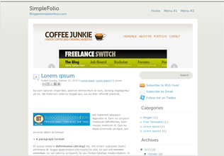 Simple Blogger Templates SimpleFolio