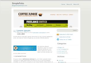 Simple Blogger Templates SimpleFolio