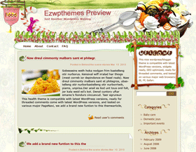 Julie and Julia Blogger Template
