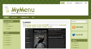 My Menu Blogger Templates