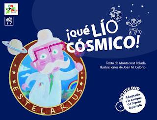 Colección CARAMBUCO / col·lecció GINJOLER (cuentos bilingües) Coberta_lio_cosmico30
