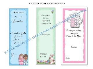 Suvenir separadores de libro Bautizo, Primea Comunión, Quinceañera