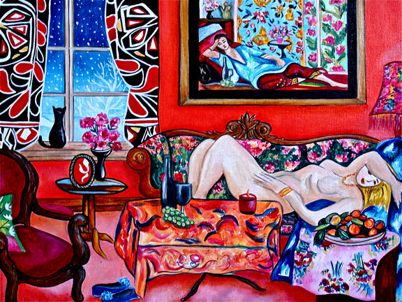 Open window matisse - A Painting A Day Objets D Art Lounging In The Patterns